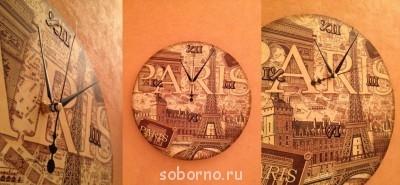 Декупаж - часы париж 2.jpg