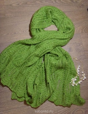 Вязание на спицах - палантин1.jpg