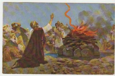 Христианская культура в картинках - Image 3 Jugement de Dieu sur le mont Carmei. 1 Rois 18.38.jpg
