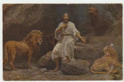 Христианская культура в картинках - Image1X Daniel dans la fosse aux lions Daniel 6 17-23.jpg